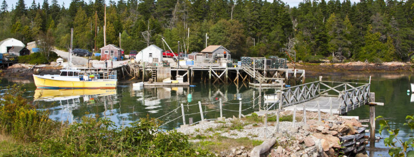 Fishing harbor, Acadia National Park, Mount Island, Maine. Photo: Stillman Rogers