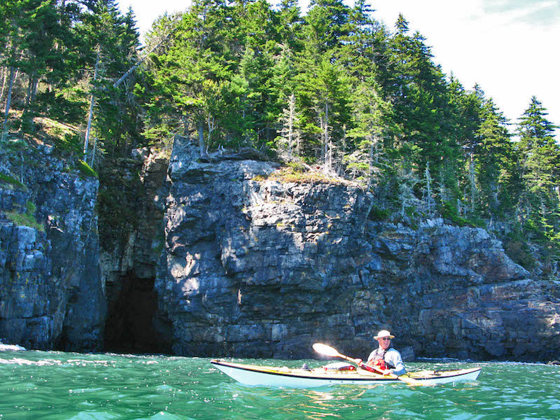 Kayaking Frenchman's Bay, Acadia National Park, Maine.