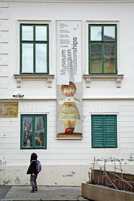Museum of Broken Relationships in Zagreb, Croatia.