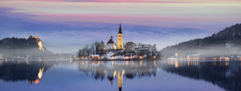 Lake Bled in Slovenia, Europe.