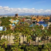 View of Disney Adventure Park from hotel.