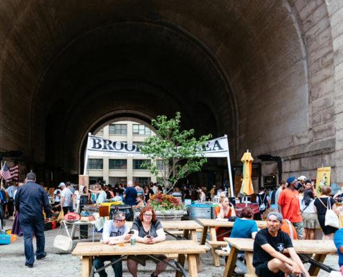 Brooklyn Flea Market in DUMBO. Photo: Jjfarq   Dreamstime.com