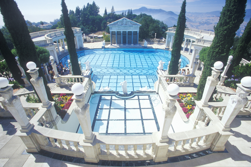 Neptune Pool at Hearst Castle, San Simeon, Central Coast, California.
