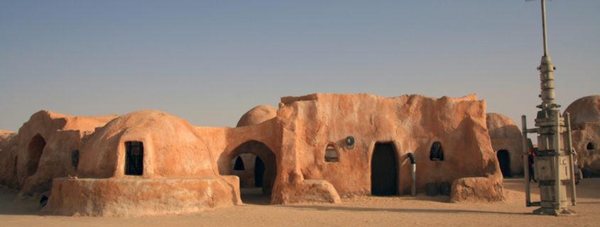 Tunisian Sahara desert, some of the scenes for the film Star Wars were set.