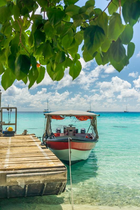 Paradise view of Rangiroa atoll, French Polynesia.