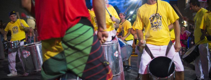 Samba Squad performs at the Toronto Jazz festival on the beaches.