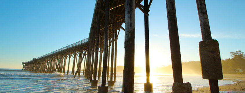 San Simeon pier near Hearst Castle, California.