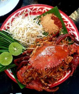 Crab pad thai at Baan Phad Thai.