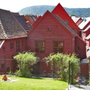 Hansa era building in Bergen, Norway.
