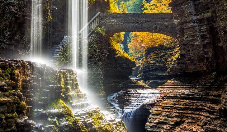 Watkins Glen State Park Bridge.