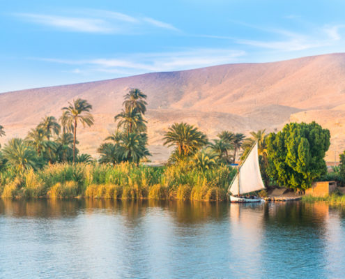 River Nile in Luxor, Egypt.