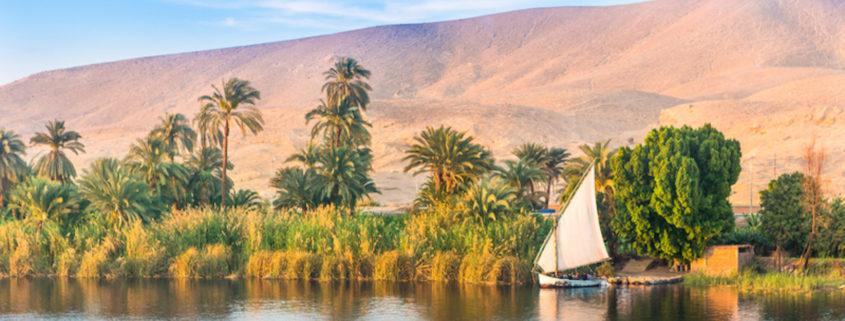 River Nile in Luxor, Egypt.