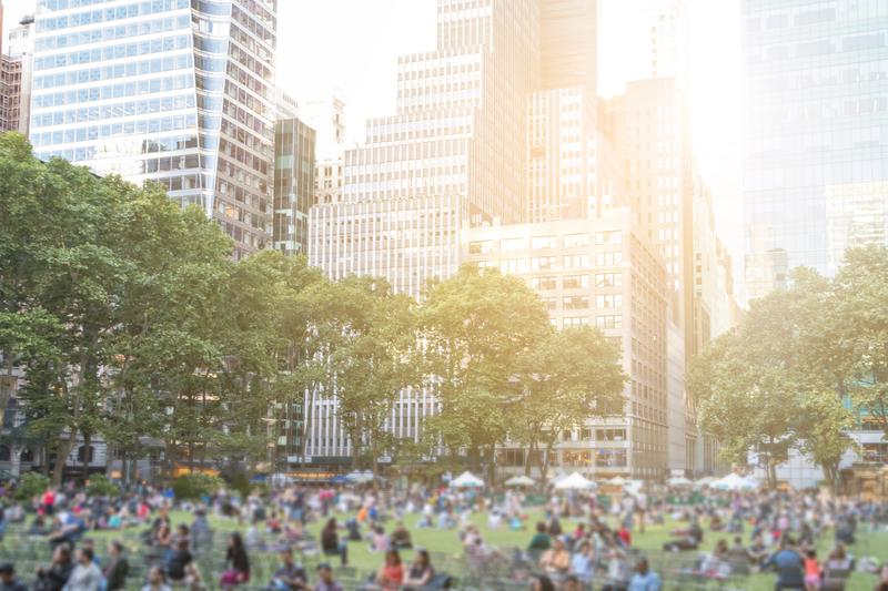 Bryant Park in Manhattan, New York City.