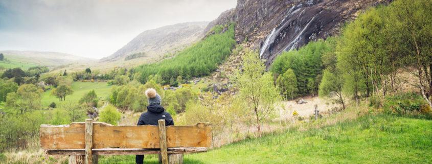 Waterfall in Kenmare, County Kerry, Ireland.