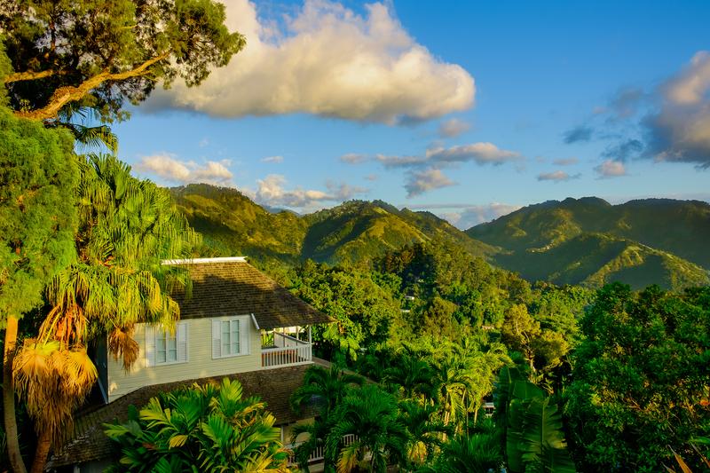Blue Mountains of Kingston, Jamaica.