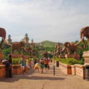 Bridge of Time in famous resort Lost City in Sun City, South Africa.