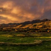 Summer Sunset in Bozeman, Montana