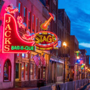 Lower Broadway Area, Nashville, Tennessee.