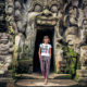 Ancient ruined cave Temple Goa Gajah, Ubud, Bali.