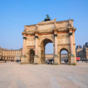 The Arch Roundabout with the Arc de Triomphe at the Carousel Square.