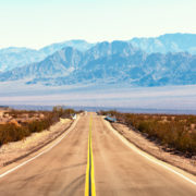 Road trip along Route 66, Mojave Desert, Southern California, United States.