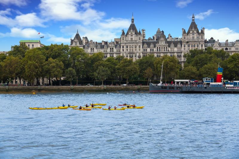 Kayaking on the Thames. Photo: Darryl Brooks | Dreamstime.com