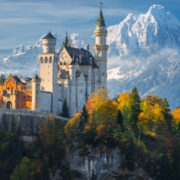 The Neuschwanstein Castle in Germany.