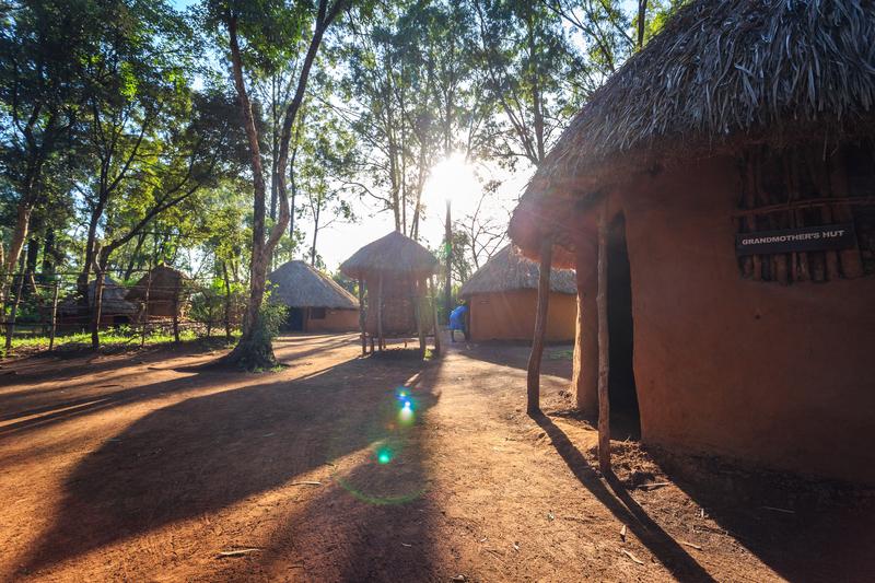 Traditional tribal hut of Kenyan people at Bomas of Kenya in Nairobi.