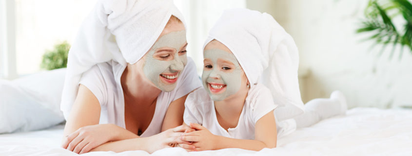 Mother and daughter spa day