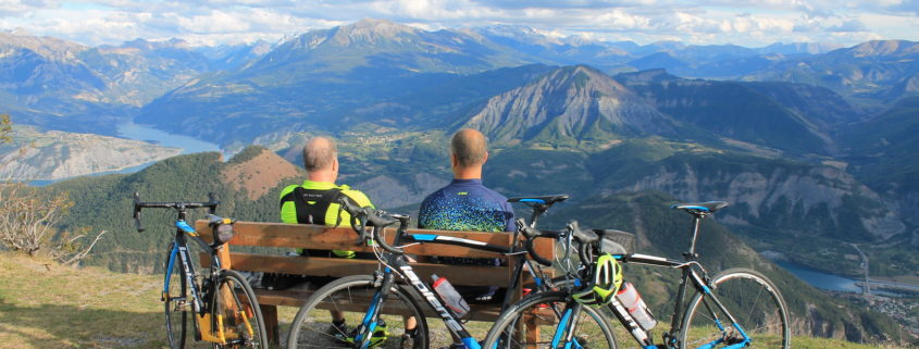 Road cycling in the southern French Alps