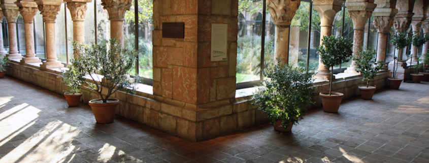 The Cloisters yard, the MET, New York