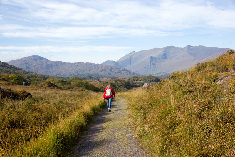 Hiking in Killarney National Park.