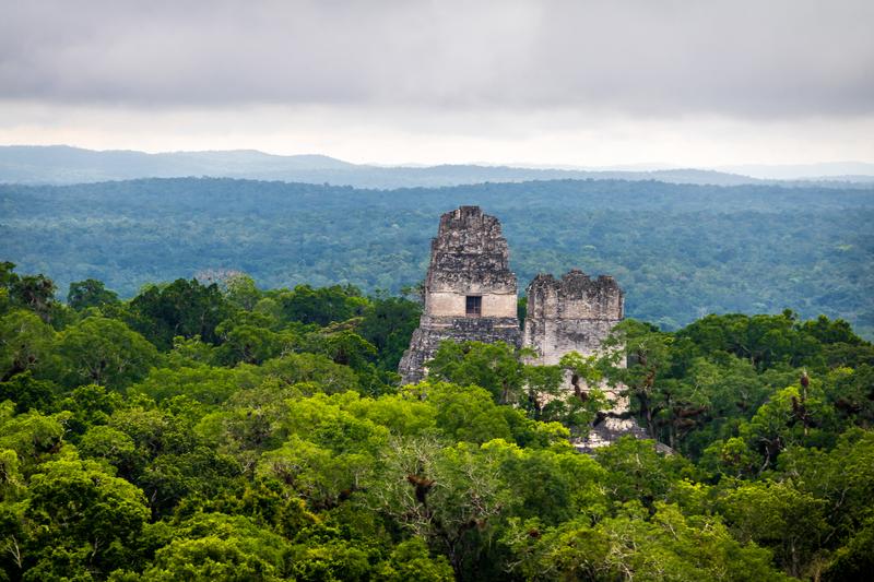 Top of Mayan Temples at Tikal National Park, Guatemala.